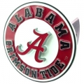 "Alabama Crimson Tide ""A""  NCAA Pewter Trailer Hitch Cover"