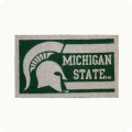 "Michigan State Spartans NCAA 18"" x 30"" Welcome Mat"