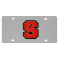 NC State Wolfpack NCAA Stainless Steel License Plate