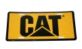 Caterpillar CAT Diamond Plate Yellow/Black License Plate