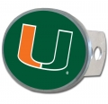 Miami Hurricanes Oval Hitch Cover