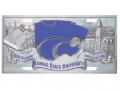 Kansas State Wildcats NCAA 3D Pewter License Plate
