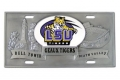 LSU Tigers NCAA 3D Pewter License Plate