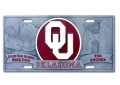 Oklahoma Sooners NCAA 3D Pewter License Plate