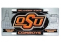 Oklahoma State Cowboys NCAA 3D Pewter License Plate