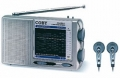Coby AM/FM/LW/SW 12 World Band Radio with Earphones