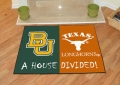Baylor Bears vs Texas Longhorns House Divided Floor Rug