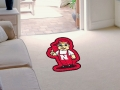 Nebraska Cornhuskers Mascot Cut-Out Floor Mat