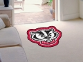 Wisconsin Badgers Mascot Cut-Out Floor Mat