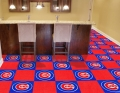 "Chicago Cubs MLB 18"" x 18"" Carpet Tiles for Man Cave or Game Room Bar"