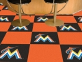 "Miami Marlins MLB 18"" x 18"" Carpet Tiles"