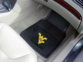 West Virginia Mountaineers Premium All Weather 2pc Rubber Car Floor Mats