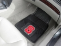 NC State Wolfpack Premium All Weather 2pc Rubber Car Floor Mats