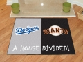 Los Angeles Dodgers vs San Francisco Giants House Divided Floor Rug