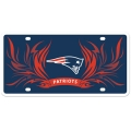 New England Patriots Flame Styrene License Plate