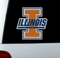 "Illinois Fighting Illini NCAA Logo Glass Tatz """"Cutz"""" Window Graphic/Decals"