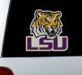 "LSU Tigers NCAA Logo Glass Tatz """"Cutz"""" Window Graphic/Decals"