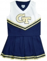 Georgia Tech Yellow Jackets NCAA College Youth Cheerleading Outfits-FREE SHIPPING