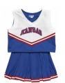 Kansas Jayhawks NCAA College Youth Cheerleading Outfits-FREE SHIPPING