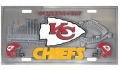 Kansas City Chiefs NFL 3D Pewter License Plate