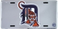 Detroit Tigers MLB Chrome License Plate