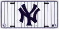 New York Yankees White Pinstripe License Plate