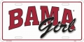 "Alabama Crimson Tide ""Bama Girl"" Aluminum License Plate"
