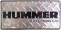 "Hummer ""Like Nothing Else"" Diamond Plated License Plate"