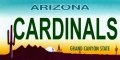 Arizona Cardinals State Background License Plate