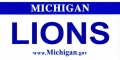 Detroit Lions State Background License Plate