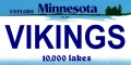 Minnesota Vikings State Background License Plate