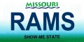 St. Louis Rams State Background License Plate