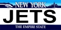 New York Jets State Background License Plate