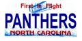 Carolina Panthers State Background License Plate