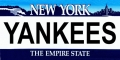 New York Yankees State Background License Plate