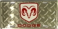 Dodge Ram Diamond Plated License Plate