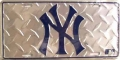 New York Yankees Diamond Plate License Plate
