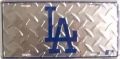 LA Dodgers Diamond Plate License Plate