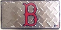 Boston Red Sox Diamond Plate License Plate