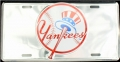 New York Yankees MLB Chrome License Plate