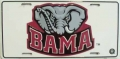 "Alabama Crimson Tide ""Bama Elephant"" Aluminum License Plate"