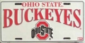 Ohio State Buckeyes Aluminum License Plate