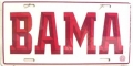"Alabama Crimson Tide ""BAMA"" Aluminum License Plate"