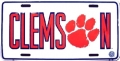 Clemson Tigers Aluminum License Plate
