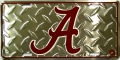 "Alabama Crimson Tide ""A"" Diamond Plate License Plate"