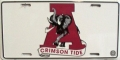 "Alabama Crimson Tide ""Crimson Tide"" Aluminum License Plate"