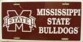 Mississippi State Bulldogs Aluminum License Plate