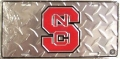 NC State Wolfpack Diamond Plated License Plate