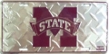 Mississippi State Bulldogs Diamond Plate License Plate