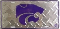 Kansas State Wildcats Diamond Plate License Plate